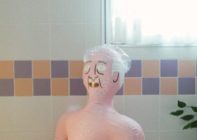 El baño de Agustín