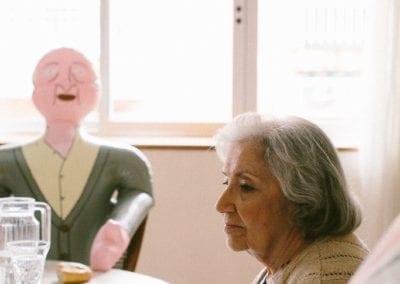 La pareja en el comedor