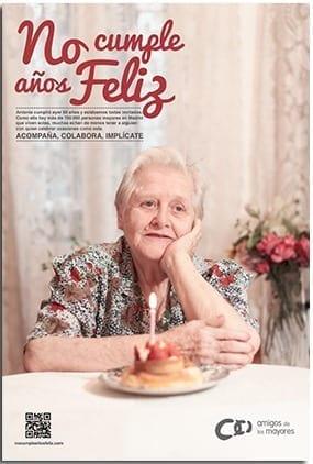 Amigos de los Mayores lanza la campaña #NoCumpleAñosFeliz para sensibilizar sobre la soledad de las personas mayores en España