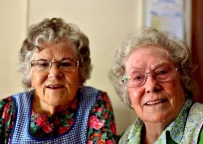 Luisa y Faustina Padilla «En muchos aspectos estamos mejor que cuando éramos jóvenes»