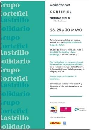 Amigos de los Mayores participa en el Rastrillo Solidario del Grupo Cortefiel