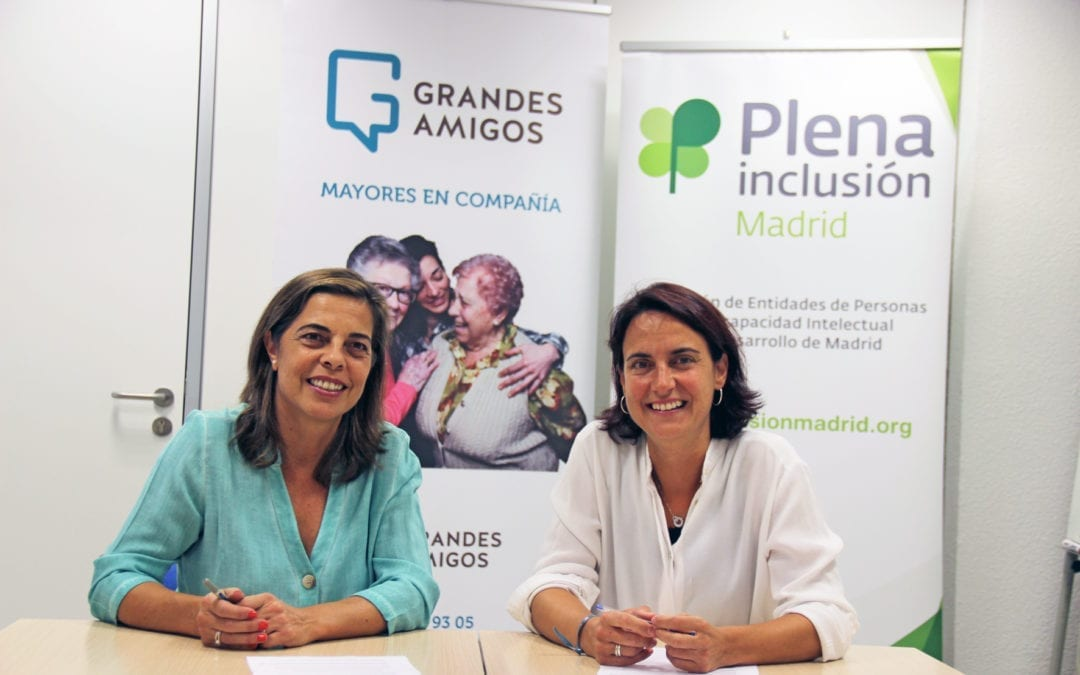 Plena Inclusión Madrid y Grandes Amigos se unen para combatir la soledad no deseada