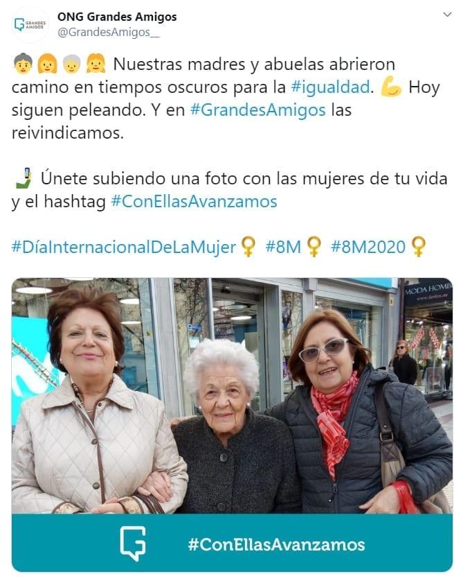 pantallazo twitter #ConEllasAvanzamos