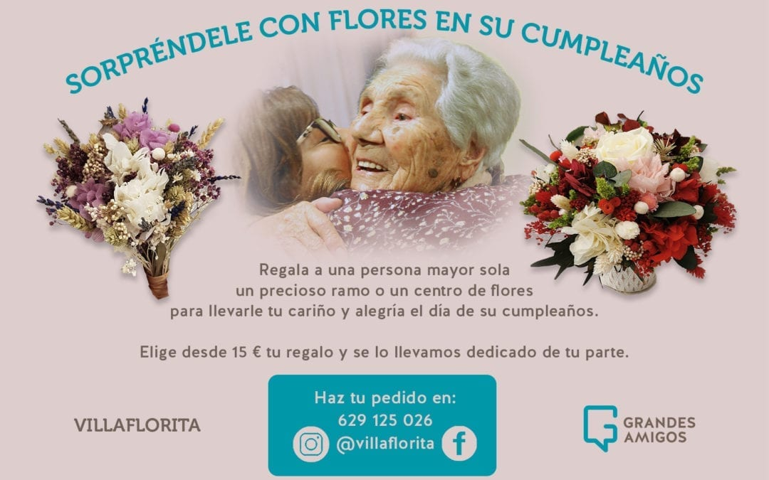 Regala flores a mayores en su cumpleaños