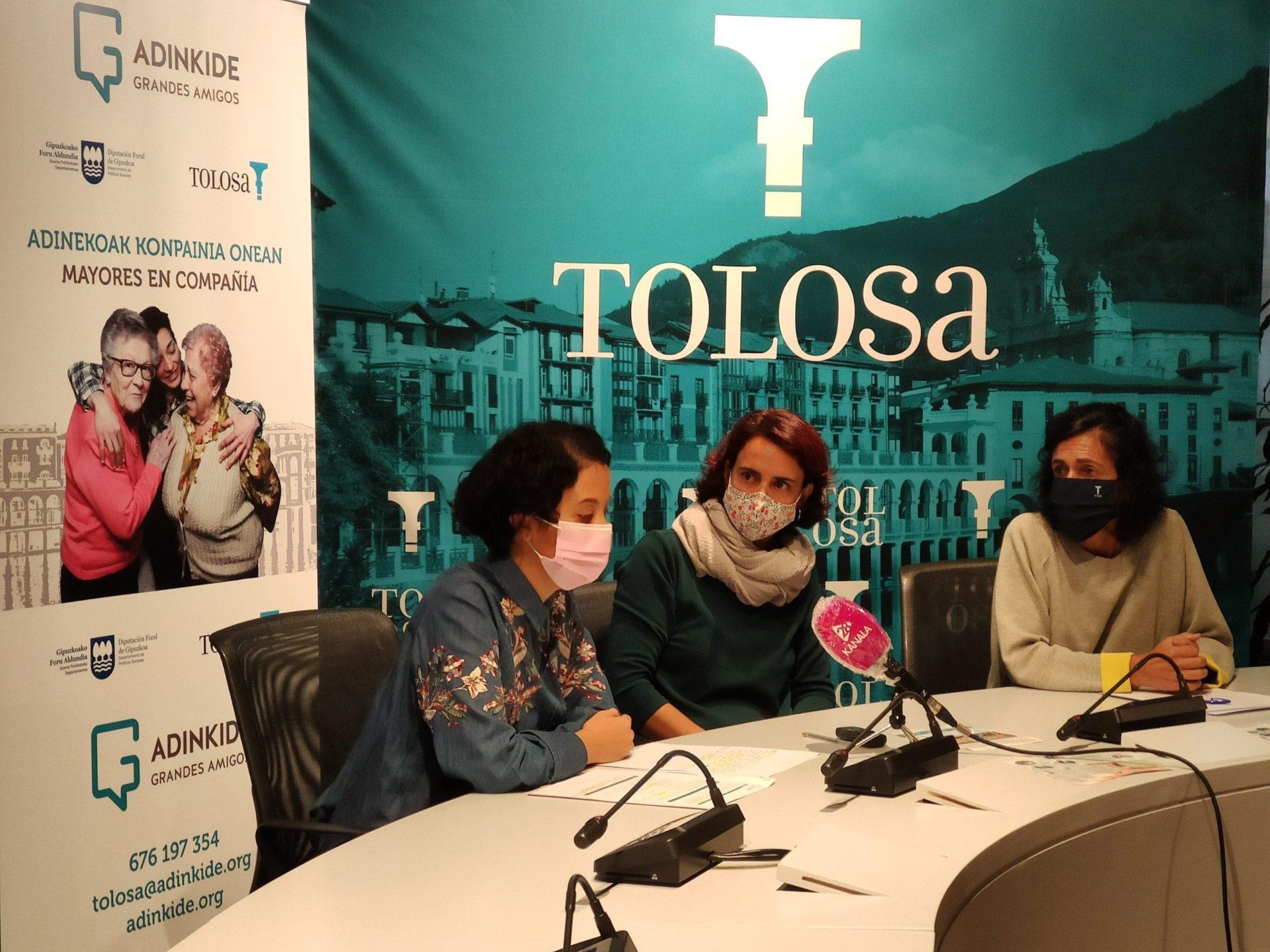 Adinkide llega a Tolosa para combatir la soledad de las personas mayores