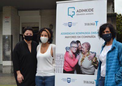 Adinkide, más de un año acompañando a las personas mayores en Tolosa